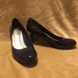 Comfort Plus Navy Heels